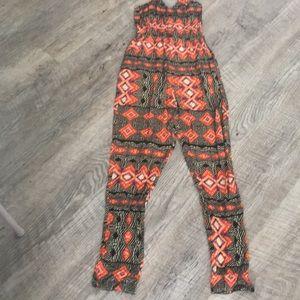 MINKPINK Pants - Tribal print jumpsuit